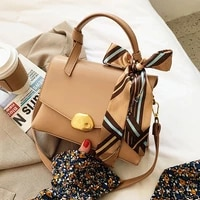 totes bags woman scarf handbags women designer pu shoulder crossbody bag ladies french style elegant handbag