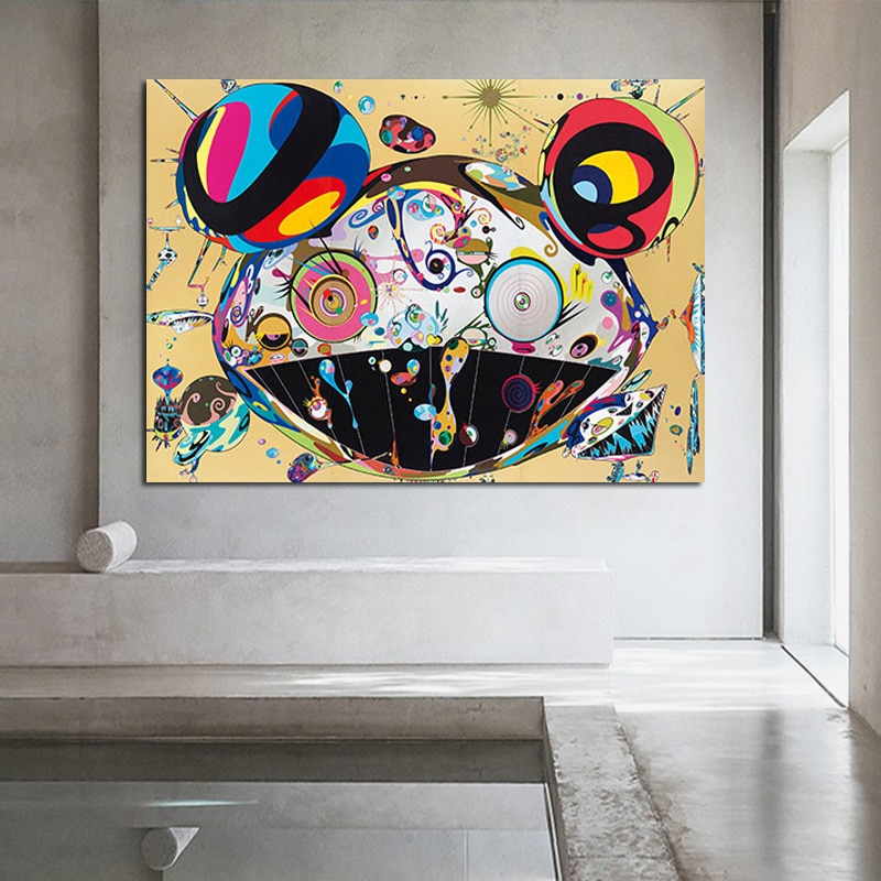 Abstract Poster Schilderij Takashi Murakami Wall Art Foto Cuadros Kunstwerk Afgedrukt Op Canvas Schilderij Home Decor Woonkamer
