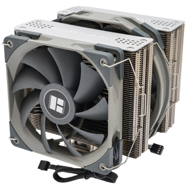 FS140 Dual Tower CPU Cooler Radiator with 140mm PWM Fan 4PIN for 115X 2011 2066 AM4 Computer CPU Cooling