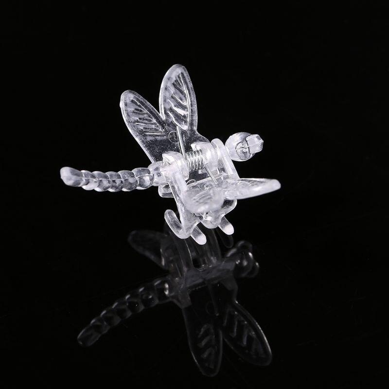 Clips de libélula para orquídeas, 30 Uds., soporte para orquídeas, bonitas plantas de jardín, Clips de soporte para vid