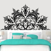 Half Mandala Wall Decal Bedroom Decor Accessories Lotus Flower Vinyl lIiving Room Wall Stickers Home Decoration Yoga Studio Z059