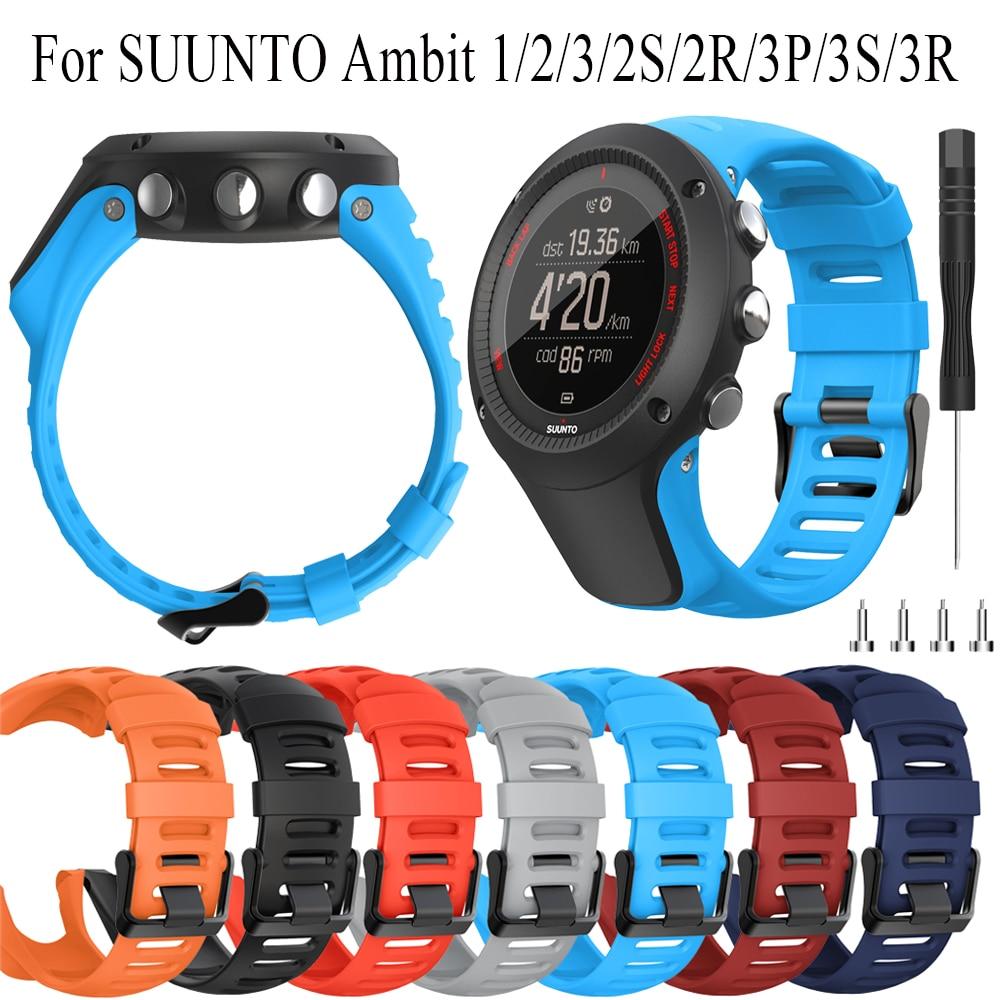 С силиконовым браслетом, 24 мм Новый ремешок для SUUNTO 1/2/3/2S/2R/3P/3S/3R smart Watch sport ремешок сменный браслет на запястье
