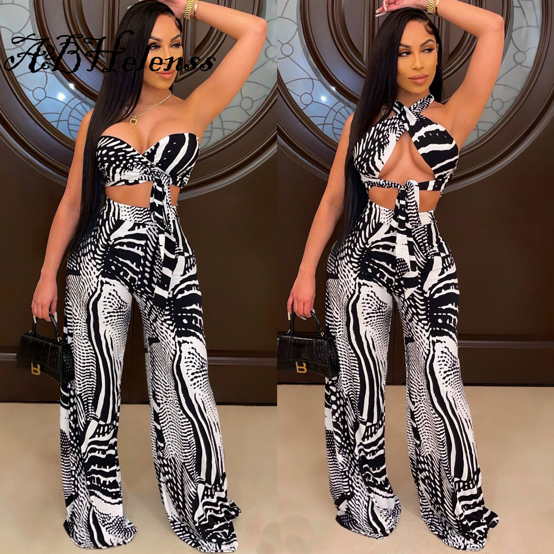 A&BHelenss Fashion Sleeveless Skinny Jumpsuits Young Party Lady Sexy Tight Club Party Lady Fashion B