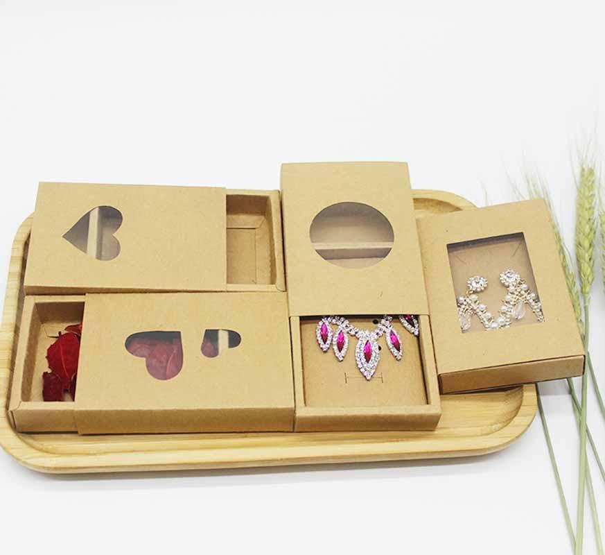 Caja de jabón de PVC transparente con diseño de joyas de Papel Kraft de 20 piezas, caja de jabón para bodas, cumpleaños, Navidad, Chocolate, caja de embalaje