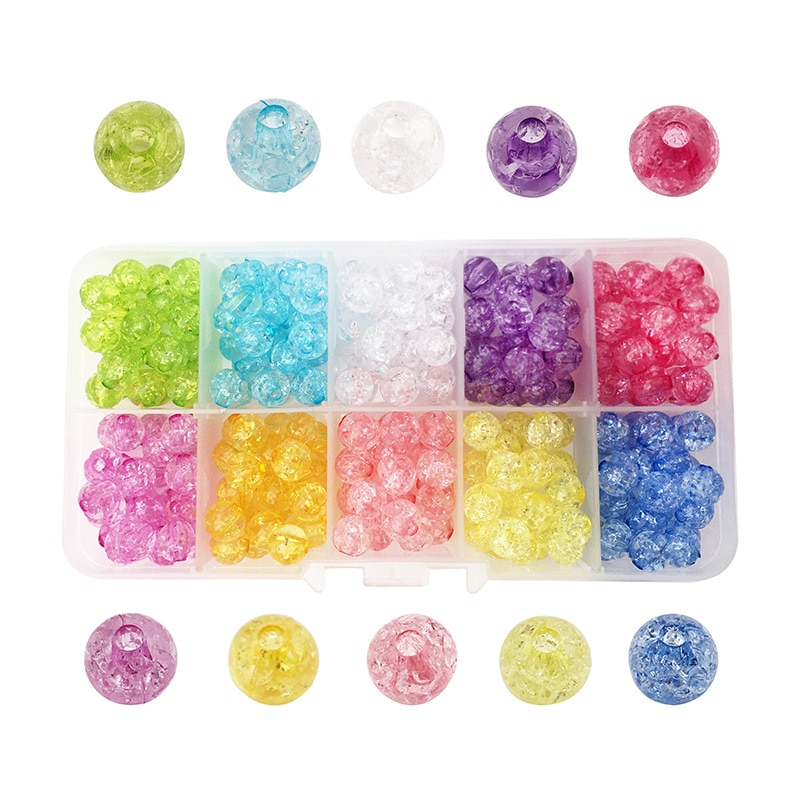 4mm 6mm 8mm 10mm mixed color round crackle glass beads loose spacer beads for jewelry making diy bracelet necklace 8/10mm Crackle Glass Beads Round Loose Spaced Beads For Jewelry Making DIY Bracelet Earrings Necklace Charms Beads