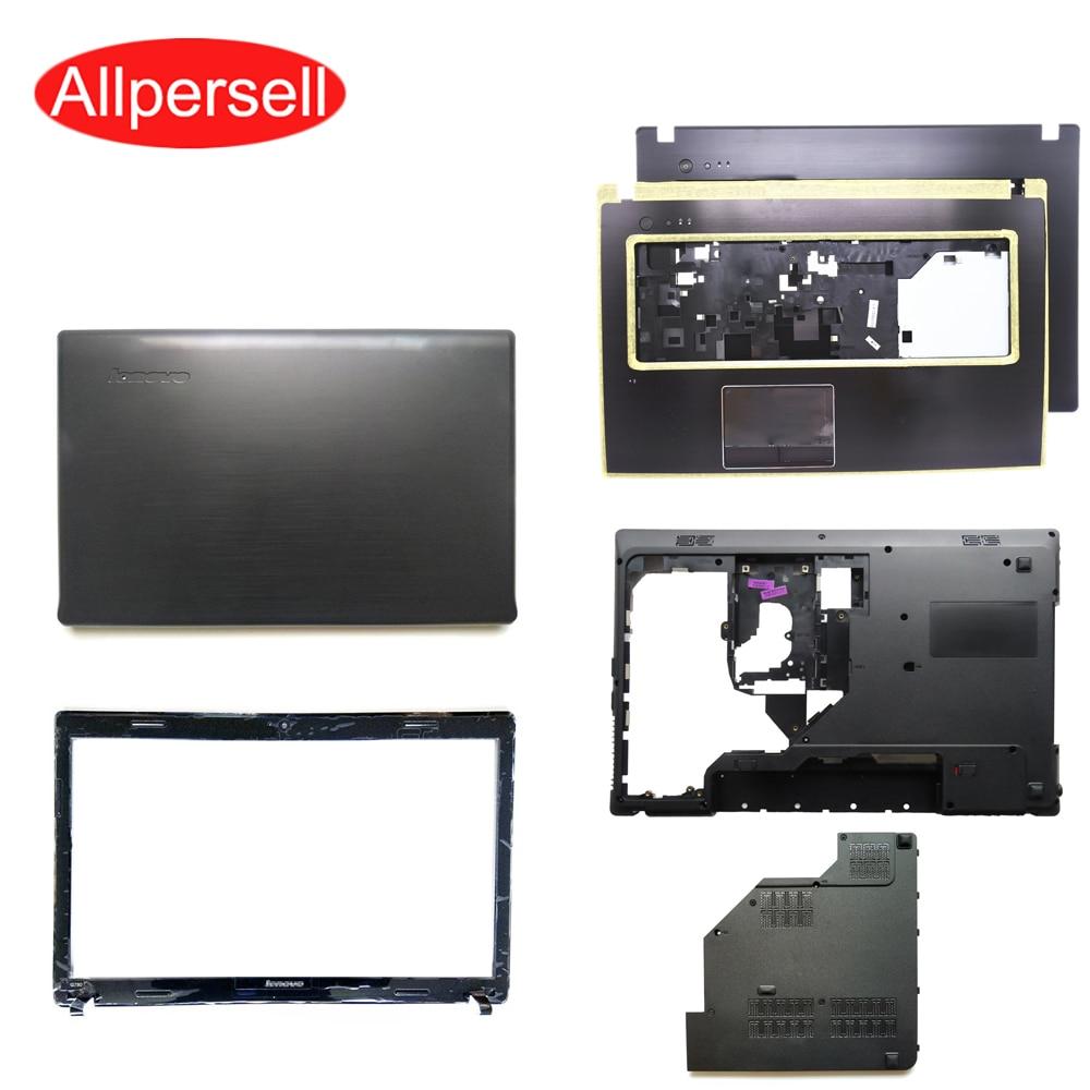غطاء علوي لجهاز Lenovo G770 G780 ، حافظة مسند المعصم ، غلاف سفلي ، غطاء محرك أقراص ثابتة ، إطار شاشة ، غطاء محرك بصري