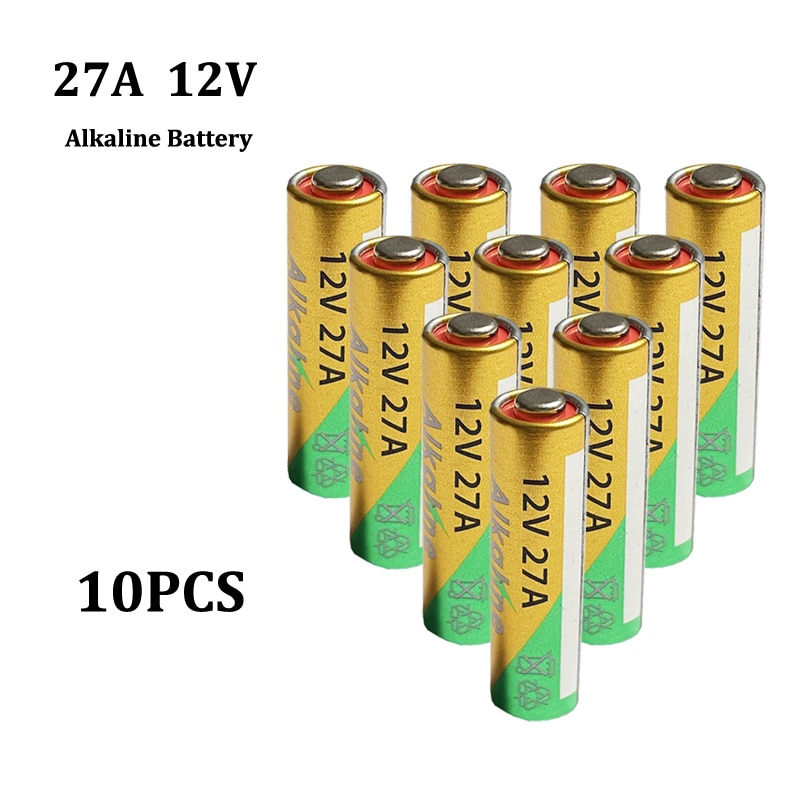 10 Uds 12V 27A Batería alcalina G27A MN27 MS27 GP27A A27 L828...