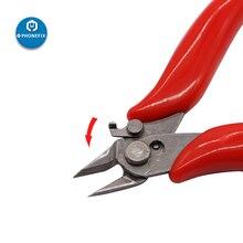 "Alicates de corte lateral Diagonal Mini de 3,5 ""de Color rojo/Negro, cortadores de Cable de bloqueo, alicates de corte electrónico de reparación, pinzas angulares"