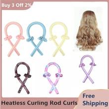 Heatless Curling Rod Curls Silk Ribbon Hair Rollers Sleeping Soft Headband Wave Rod Headband Lazy Cu