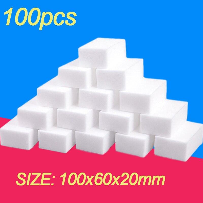 100PCS Melamine Sponge Magic Sponge Eraser for Melamine Sponge Cleaner Cleaning Sponge Kitchen Bathroom Accessories 100*60*20mm
