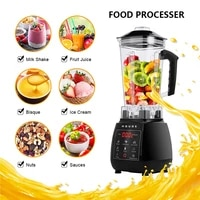 professional food processor digital touchpad domestic blender mixer fruit vegetable meat ice smoothies soybean milk shake juicer