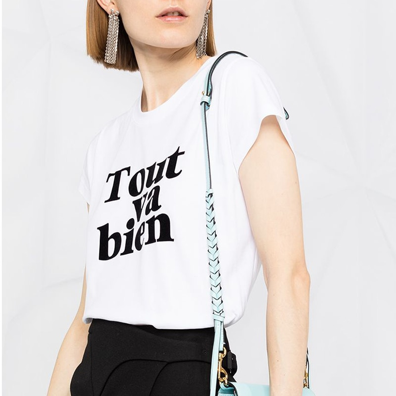 Флокированные футболки с надписью и графическим рисунком, женские летние классические футболки с коротким рукавом и круглым вырезом из хло...