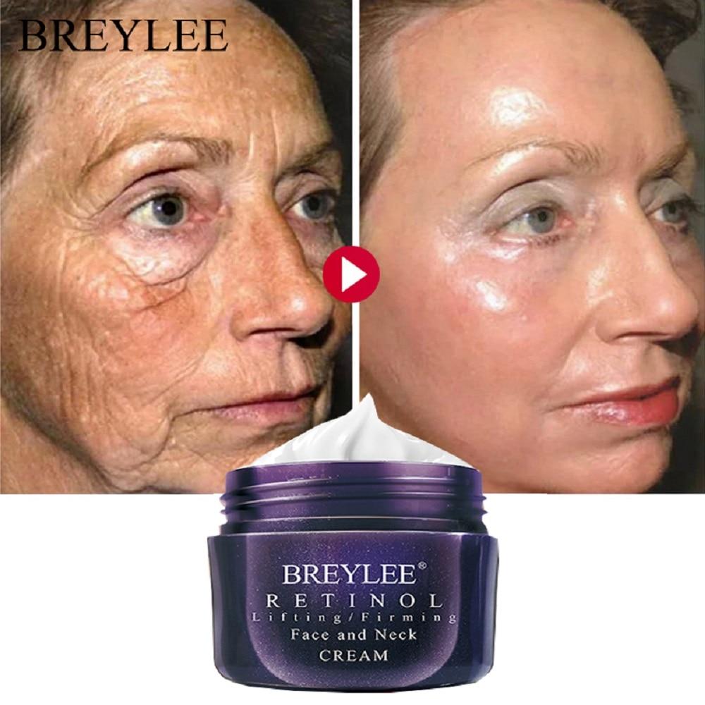 BREYLEE Retinol Firming Face Cream Lifting Neck Anti-Aging Removing Wrinkles Night Day Moisturizer Whitening Face Skin Care 40g