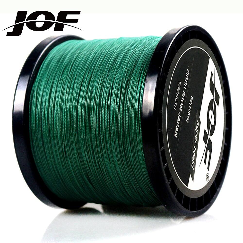 JOF 300 м 500 м 1000 м PE плетеная проволока многонитевая леска 8 нитей 4 нити рыболовные снасти