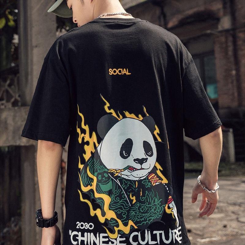 Summer Ladies Chinese T-shirt Women White Tops Tee Animal Harajuku Panda T Shirts Girls Tshirt Streetwear Jumpers