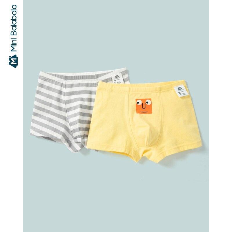 Mini balabala calzoncillos boxer para niños 2020 Primavera y novedad de verano bebé boxeador escritos para niños 2 paquetes