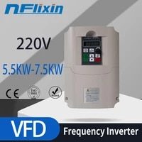 spindle inverter ac drive 1 5kw2 2kw4kw 220v frequency converter 3 phase frequency inverter for motor speed controller vfd
