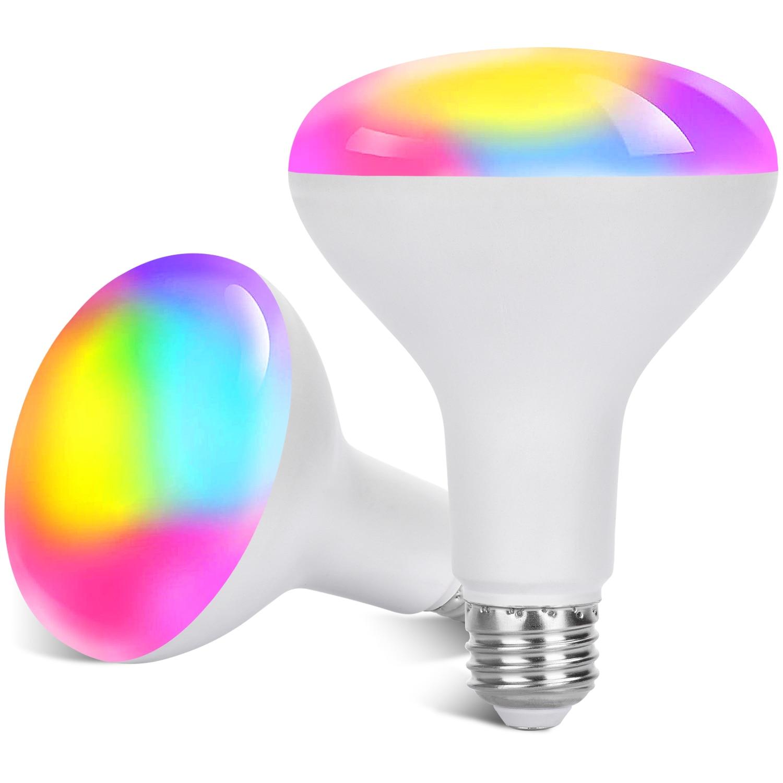 Siri-bombilla inteligente de noche con Control de voz, luz LED RGB regulable...