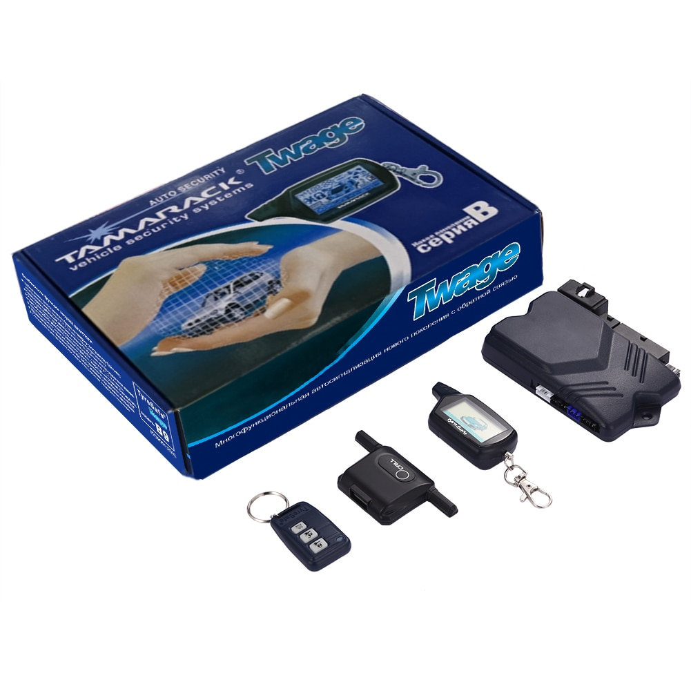 Car Anti-theft Alarm System Auto Ignition Remote Engine Keyless Start System For TyreSafe B9 Two-way