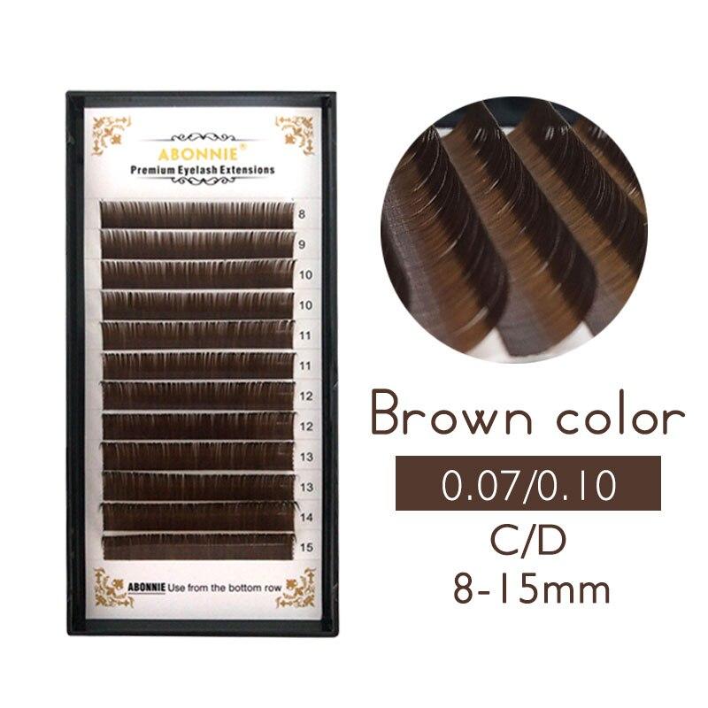 0,07/0,10 C D накладные ресницы индивидуальное наращивание ресниц цвет накладные ресницы норковые ресницы наращивание 100% настоящие темно-коричневые