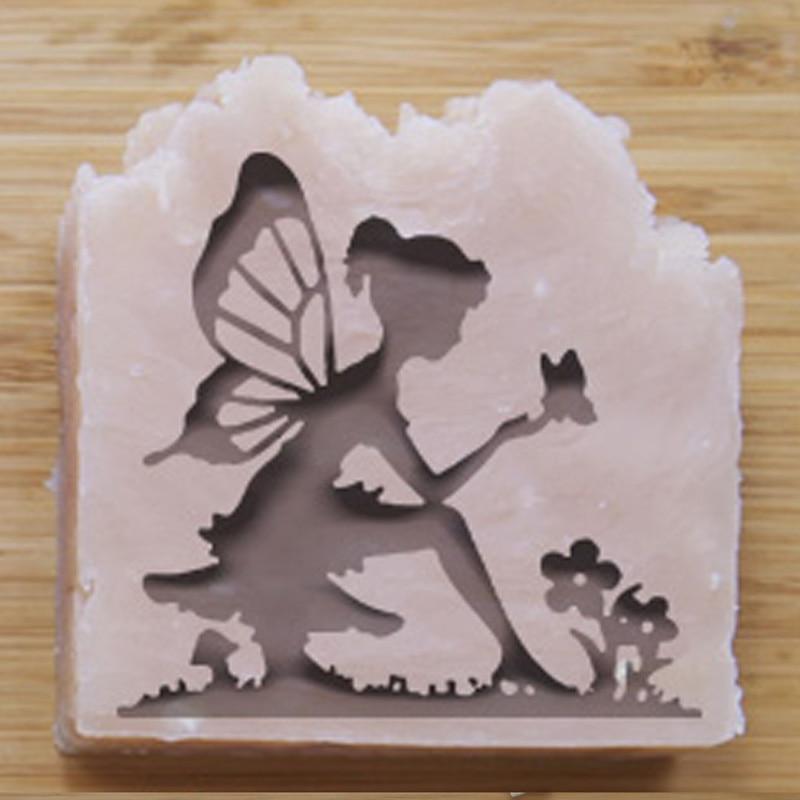 Envío Gratis, sello de jabón acrílico natural hecho a mano, molde de sello, pequeños patrones diy de elfos, vidrio orgánico de 5*5cm