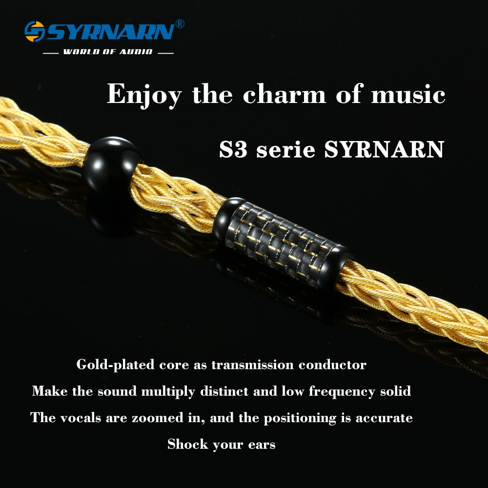SYRNARN S3 504 Core OCC Balanced Cable 3.5 4.4MM With MMCX/2Pin 0.78/A2DC Connector For SE215 SE425se535 SE846 In-ear Earphone enlarge