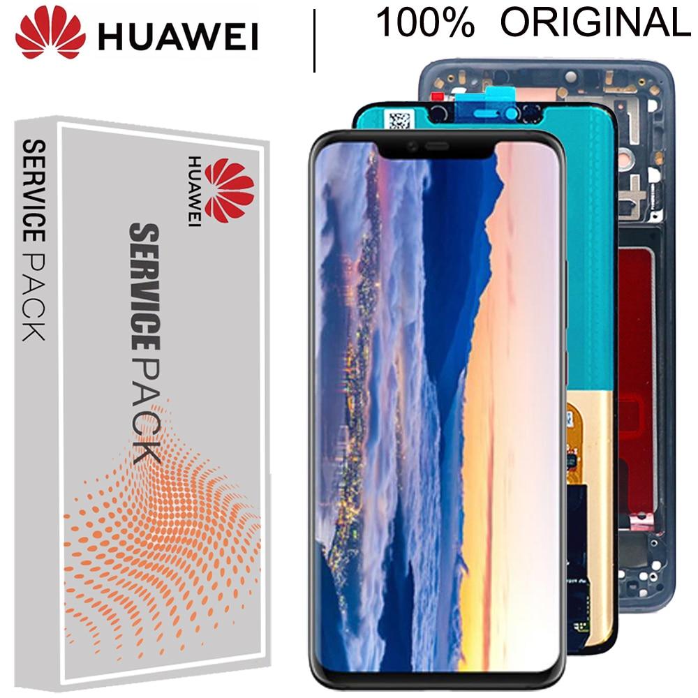 شاشة أصلية بحجم 6.39 بوصة مع بصمة إطار بديل لهاتف Huawei Mate 20 Pro, شاشة LCD تعمل باللمس LYA-L29 الجمعية التحويل الرقمي