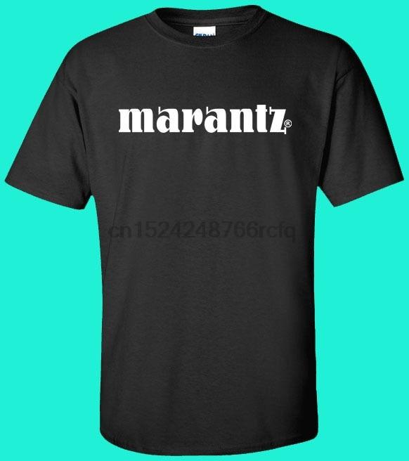 MARANTZ Audio receptor LOGO hombres camiseta S- 5XL negro