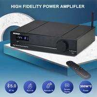 brzhifi aptx bluetooth 5 0 power amplifier 2 0 amplificador tpa3255 300wx2 digital sound amplifier usb rca dac amp home theater