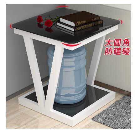 Edge a few contracted glass mini small tea table square horn of small square desk a few sofa are beside small desk bedroom bedsi