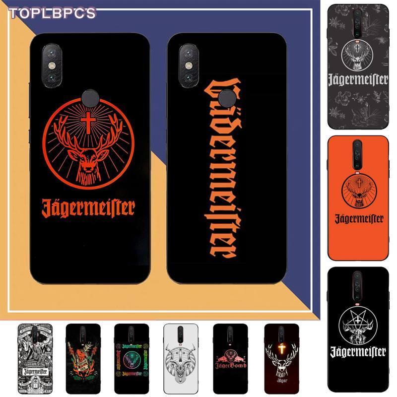Funda de Teléfono de lujo TOPLBPCS logo Jagermeister para RedMi note 9 4 5 6 7 5a 8 9 pro max 4X 5A 8T