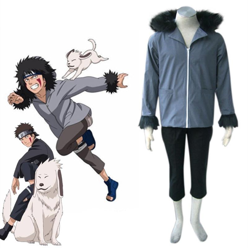 Anime Naruto Shippuden Inuzuka Kiba Cosplay disfraces Halloween señoras fiesta uniforme Kimono anime Cosplay hombre ropa personalizada