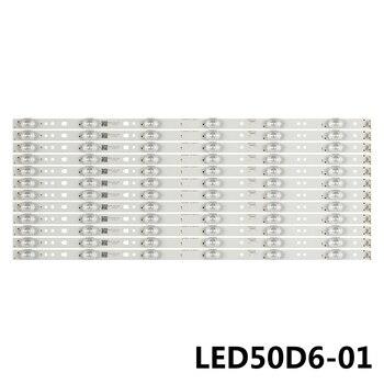 100set New 6LED 495mm LED backlight strip for LE50A7100L LED50D6-ZC14-01(A)(A)30350006202 30350006201 30350006205 V500HJ1-PE8