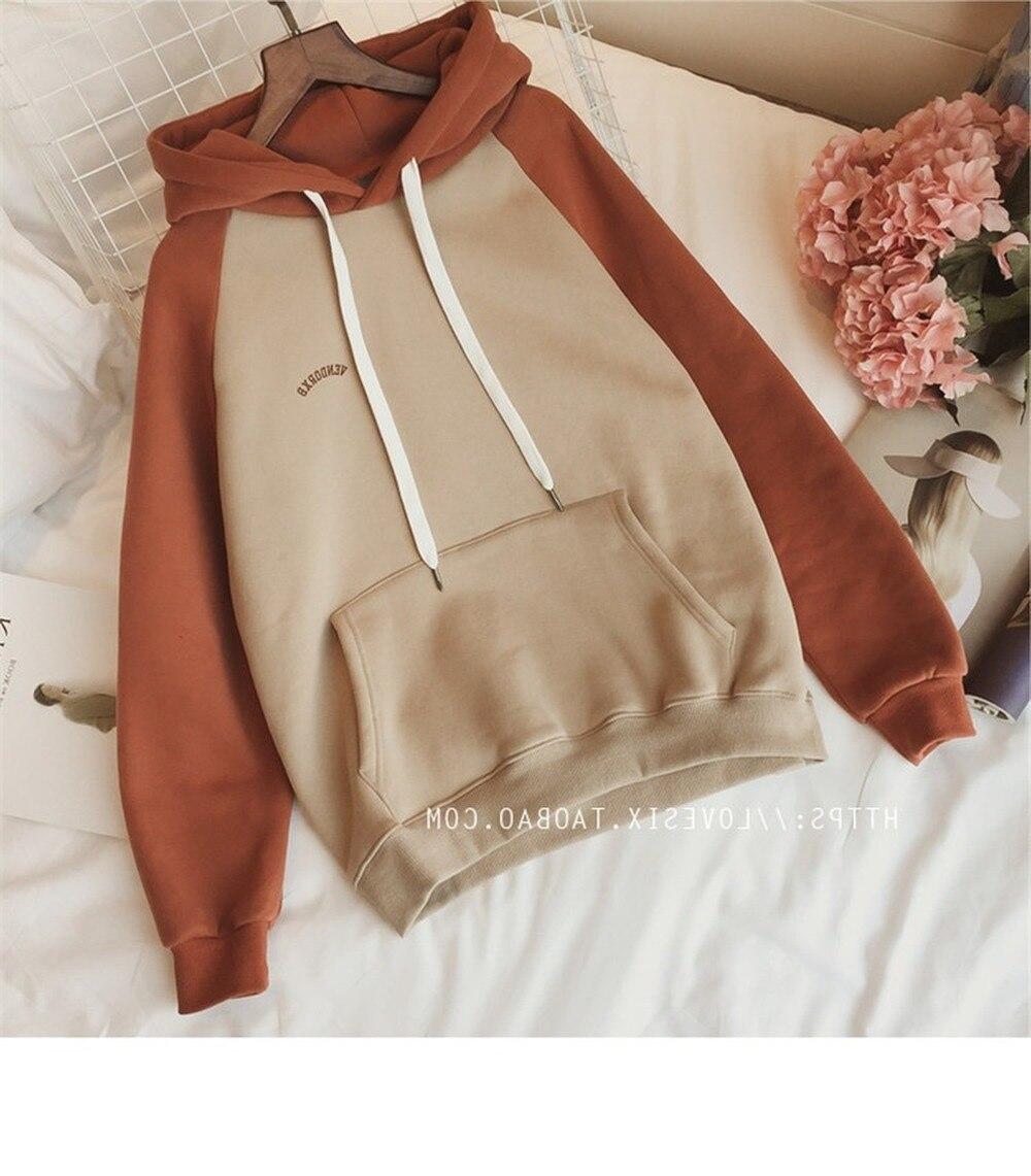 Зимняя уличная Женская одежда, свитер для женщин с буквенным принтом, длинный рукав, большой размер, Harajuku, худи, пуловеры, корейские Топы 2021
