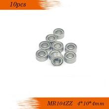 Livraison gratuite 10 pièces MR104ZZ L-1040 MR104 roulement à billes à gorge profonde 4x10x4mm roulement miniature ABEC5 P5