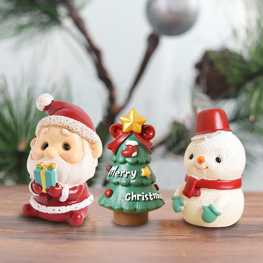 Рождественские украшения в европейском стиле для дома, маленькие рождественские украшения из смолы, домашние украшения, рождественские по...