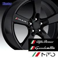 4pcs car rim sticker for alfa romeo giulia giulietta 159 156 mito stelvio 147 sportiva auto accessories
