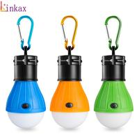 Mini 3 AAA Portable Lantern Tent Light LED Bulb Emergency Lamp Waterproof Hanging Carabiner Flashlight For Camping