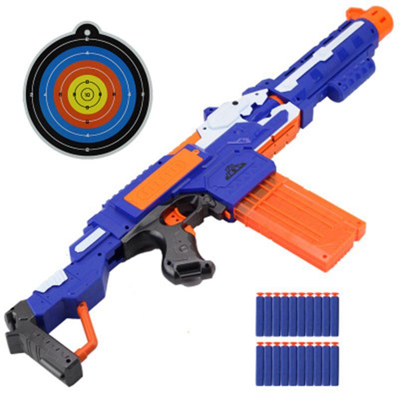 Pistola de juguete Nerf eléctrica para dardos y dardos con agujero suave y balas de dardos de juguete
