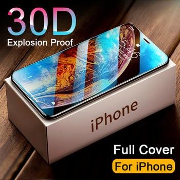 30D couvercle complet verre trempé sur pour iphone 11 12 PRO MAX protecteur d'écran verre de protection pour iphone 11 12 X XR XS MAX verre