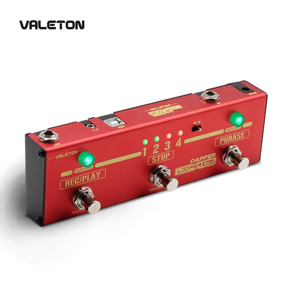 Valeton Looper Gitaar Pedaal Dapper Looper Mini 3 Voetschakelaar Knop Lus Station van 8 USB Kunnen Worden Opgeslagen Loop Herinneringen MES-7