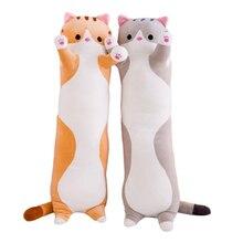 Mignon grand Animal réaliste doux et confortable Long chat en peluche Animal jouet en peluche chat oreiller enfants cadeau danniversaire jouet Sp038