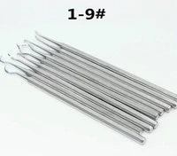 9pcs dental teeth cleaning tool 1 9 dental scaler remove tooth stains stainless steel tools pet removal dental calculus tool