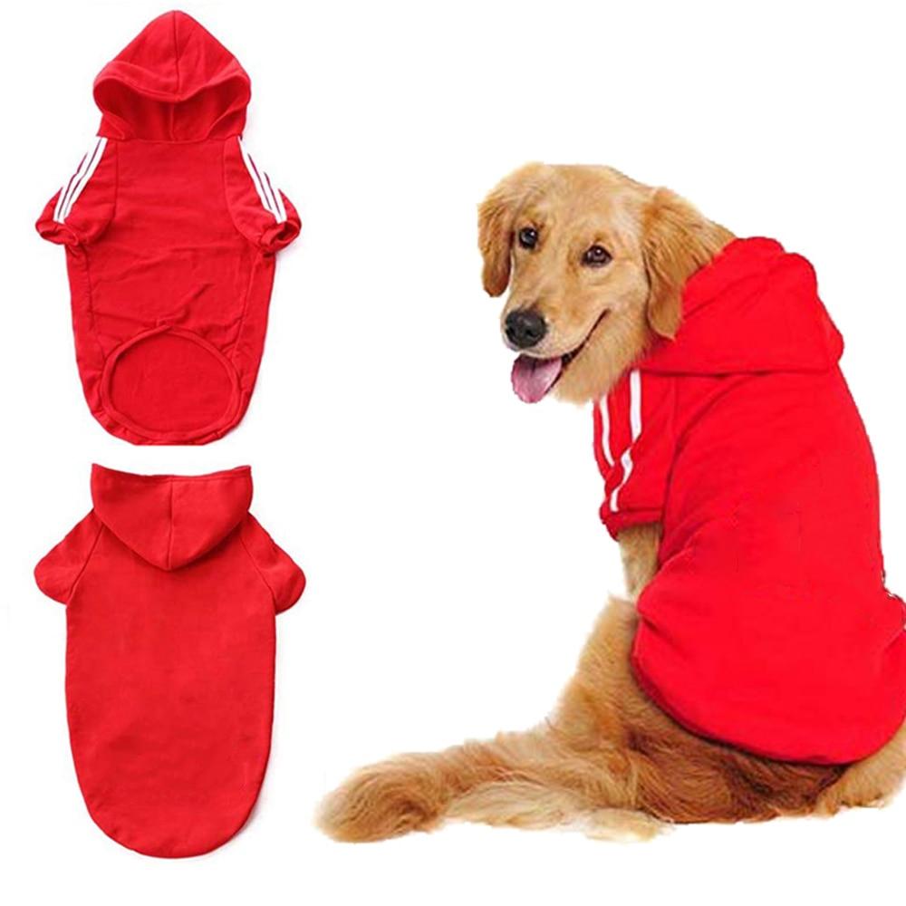 Otoño invierno cálido Big Dog Hoodies Golden Retriever Labrador Husky gran perro mascota ropa deportiva de talla grande XXL a 9XL