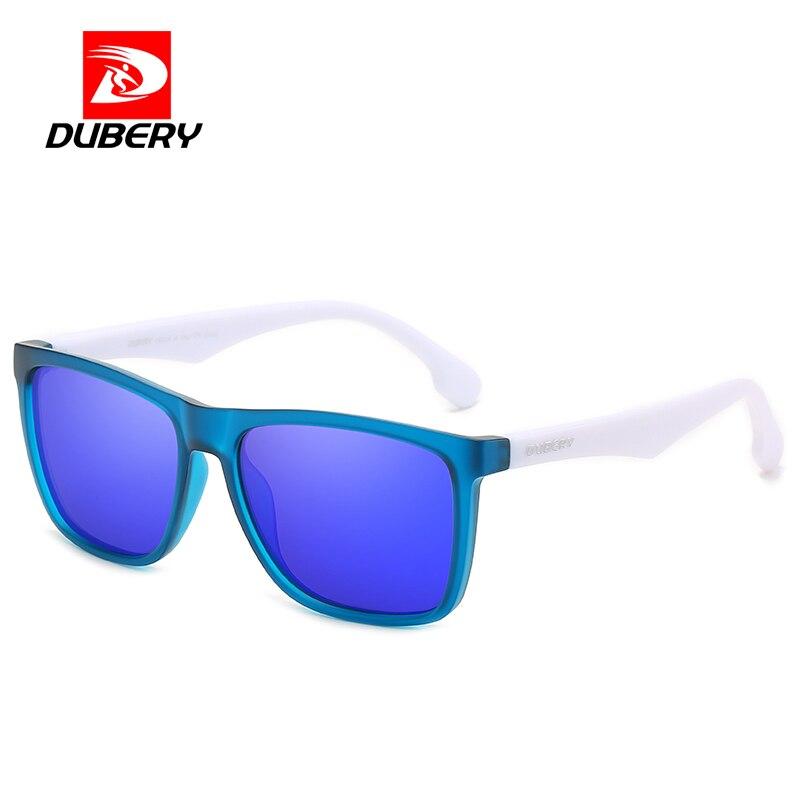 DUBERY Square Sunglasses Men Polarized Sun Glasse For Male Female Polarized Mirror Anti Blue light M