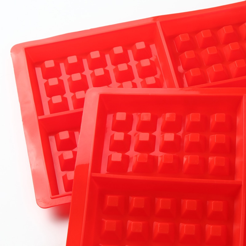 Kitchen Square Shape 4-Cavities Waffle Mold Non-Stick Cake Mould Makers Kitchen Silicone Waffle Bakeware  - buy with discount