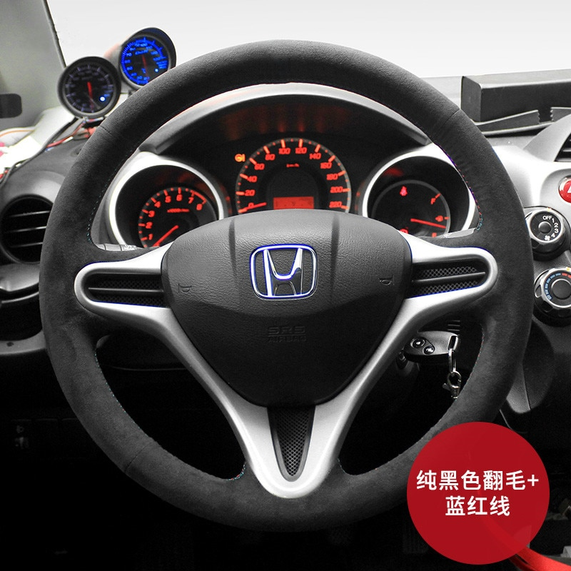 For Honda Tenth Generation Civic crv FIT Accord xrv JADE Avancier DIY custom suede leather steering wheel cover car wheel cover