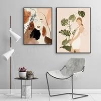 Affiche murale de Style Boho pour femme  toile imprimee  images Vintage  Style nordique abstrait  decoration de maison