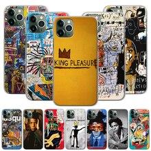 Jean Michel Basquiat coque de téléphone pour iPhone 7 8 11 Pro SE 2020 XR X XS MAX 7 + 8 + 5 5S 6 6s Plus étui rigide Capa