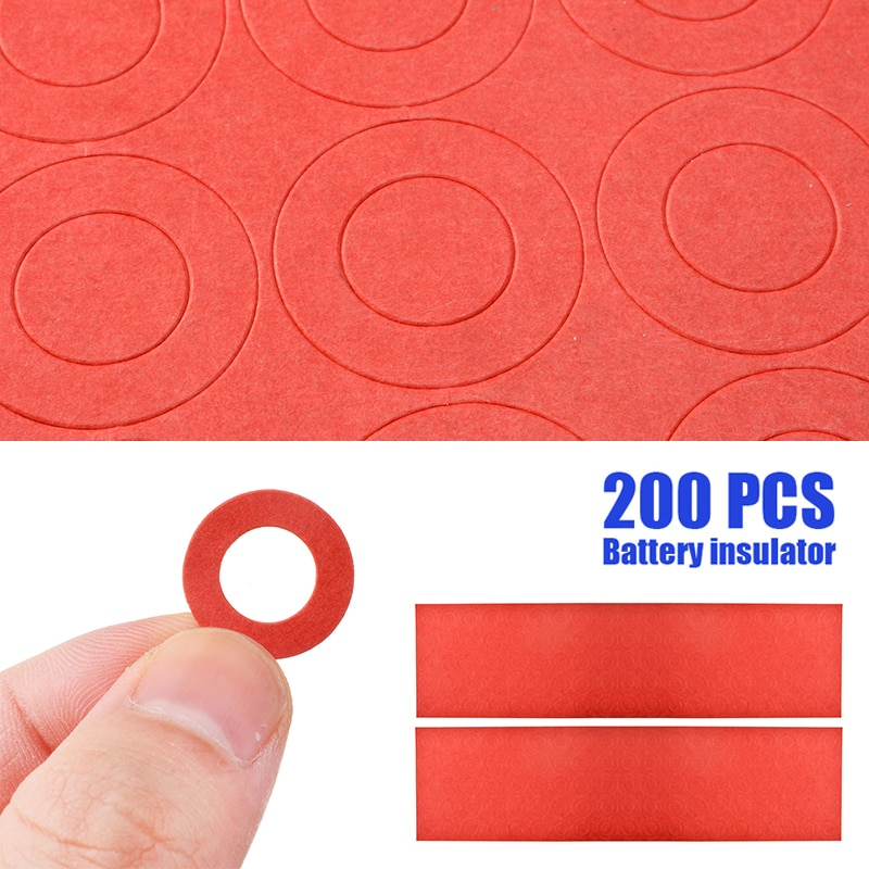 200pcs Li-ion Battery Insulation Gasket Insulator Ring for 18650 Battery Pack Insulating Glue Patch Electrode Insulated Pads 10 pcs to 220 silicone thermal heatsink insulator pads w insulating particles for lm78xx lm317 tdaxx